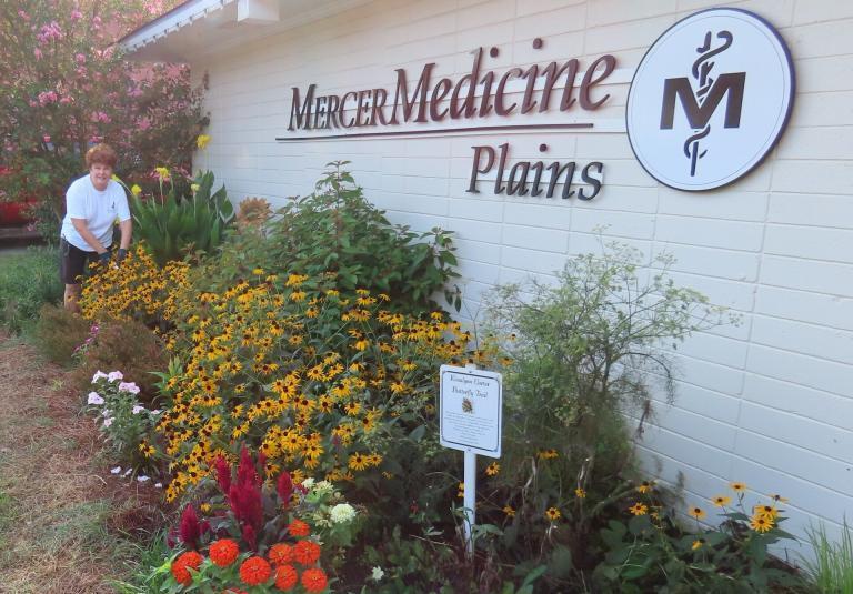 In ground garden at Mercer Medicine in Plains Georgia